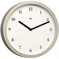 BAI Designer Wall Clock, Bodoni Titanium