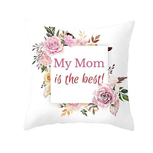 Cushion Cover Decor Throw Pillow Covers Pink Flower Square Velvet Soft Double Sided Cushion Covers with Invisible Zipper for Sofa Bedroom Decor Throw Pillowcases M5608 Pillowcase+core,40x40cm