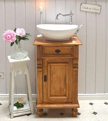 Landhaus-Waschtisch Gäste WC Bad | Unterschrank mit Waschbecken | Badmöbel Nostalgie Shabby Chic