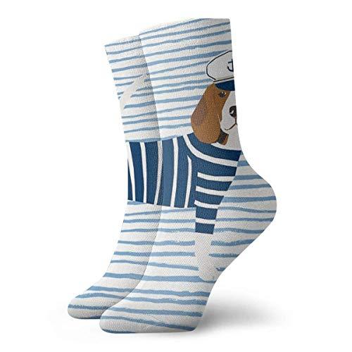 Preisvergleich Produktbild NA Beagle Dog Pattern Nautical Sailor Summer For Dog Lover Dog Breeds By PetFriendly Athletic 30cm Socks Ankle Socks Sport Casual Socks Cotton Crew Socks