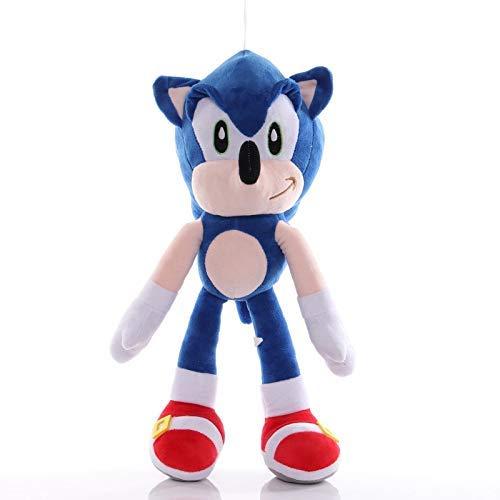 Sonic The Hedgehog 2pcs Super Sonic The Hedgehog de Juguete de Felpa Juego Figura muñeca Regalo de cumpleaños for los niños WTZ012