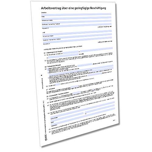 AVERY Zweckform 2201e Arbeitsvertrag für geringfügige Beschäftigung (von Rechtsexperten geprüft, Ideal für Mini Jobs und Teilzeitkräfte auf 450€ Basis) [Word-Download für Mac]