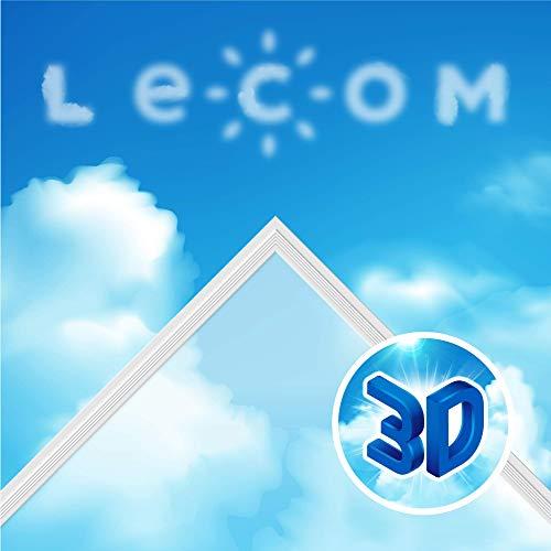 LECOM LED Panel 62x62 3D-SKY blauen Himmels mit weißen Wolken Deckenleucte Odenwalddecke Büro Praxis Deckenlampe Einbauleuchte