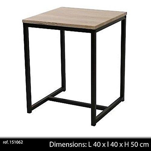 Table Basse D APPOINT Style Industriel en Bois ET Metal DESSERTE LOFT DE Chevet
