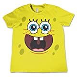 Officially Licensed Merchandise Sponge Happy Face Unisex Kids T Shirts - Yellow 7/8 Years