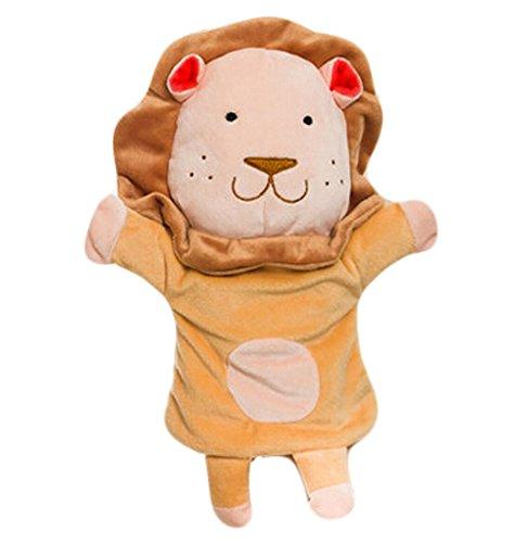 Peluche main marionnettes mignon pour enfants Puppets animaux, Lion