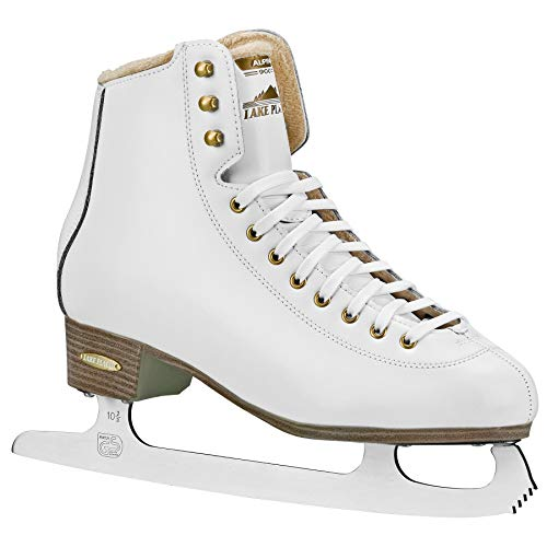 Lake Placid Alpine 900 Women's Traditional Figure Ice Skate, White, Size 6