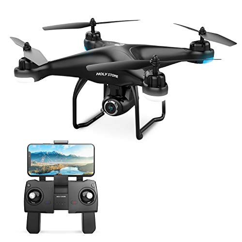 Holy Stone HS120D FPV Drone with 1080p HD Camera, Offers Follow Me, Selfie and GPS Return Home Functions,18 Min Flight Time