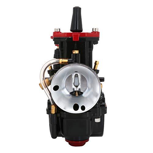 JFG RACING - Carburador PWK de 26 mm para moto Honda, Yamaha, Suzuki, Kawasaki, KTM de 75 cc, 80 cc, 100 cc y 125 cc, quad y moto de cross, color negro