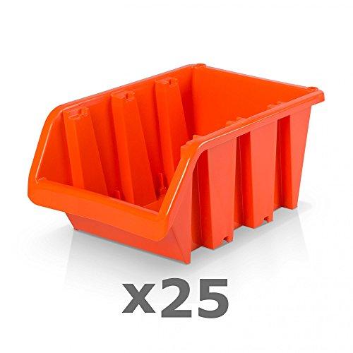 25 Stück Sichtlagerboxen Größe 5 - rotbraun (29 x 20 x 15 cm)