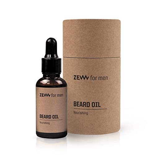 Zew For Men Natural Beard Oil with Nourishing Citrus Scent 30ml | Beard Oil for Men | Mens Beard Grooming | Nourishing Beard Oil | Moisturising Beard Oil