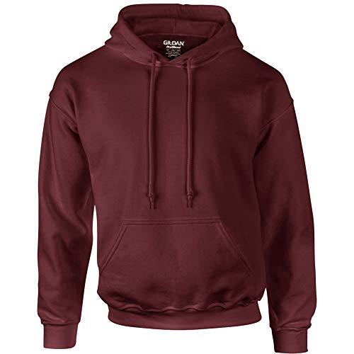 Gildan Heavyweight DryBlend Unisex Kapuzenpullover / Hoodie / Kapuzensweater L,Rotbraun