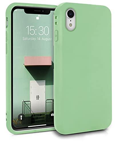 MyGadget Cover per iPhone XR - Custodia Protettiva in Silicone Ultra Morbido – Case TPU Flessibile - Protezione Antiurto & AntiGraffio - Verde Chiaro