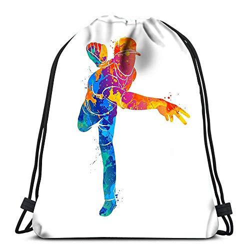 Lsjuee Mochila Bolsa con cordón Hippie Infantil Divertido con Flores Abstractas Setas Arco Iris y Símbolo de la Paz Deportes Viajes Yoga Mochila
