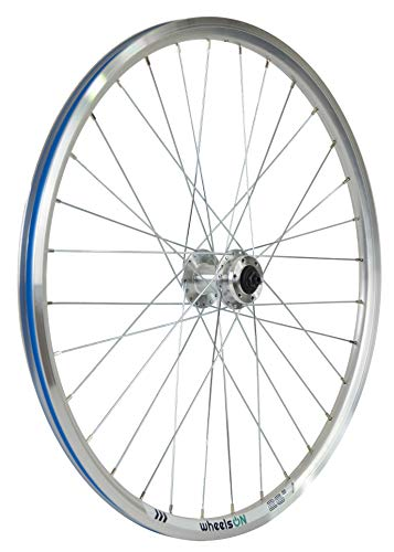 wheelsON 26 inch Front Wheel Hybrid/Mountain Bike Disc Brake Silver 32H Quick Release