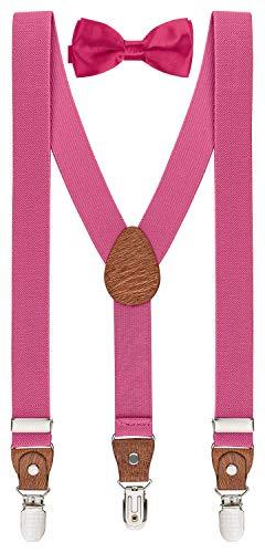 BomGuard - Juego de tirantes para niños de 1 a 8 años rosa