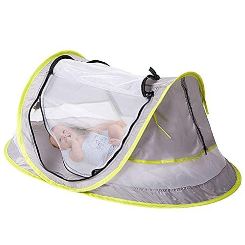 Ganghuo Portable Pop Up Baby Beach Tent UPF 50+ Sun Shelter Infantil Mosquitera para bebé viaje cama con 2 clavijas ligero
