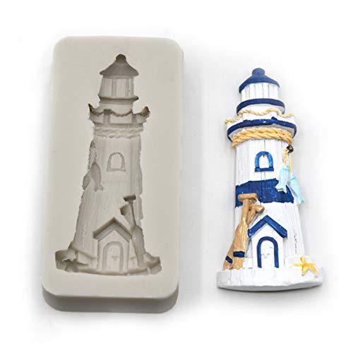 LINLIN Sea Leuchtturm -Silikon -Form -Fondant -Form -Kuchen, dieWerkzeuge Schokolade, Zuckermasse,Küchenzubehör