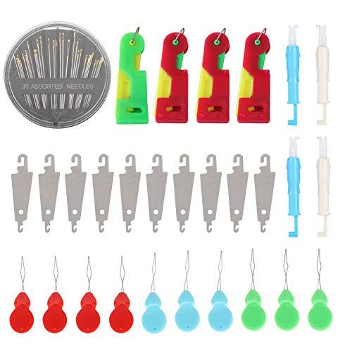 Zerodis Threader Set Automatische Threader-Nähmaschinen Älteres Handnähnadelwerkzeug für das Nähen von Bastelprojekten