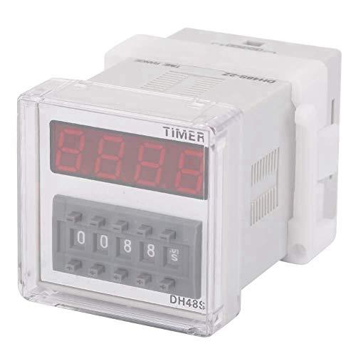 LIPENLI Tiempo de relé, DH48S-2Z LCD Display Time Temporizador relé de retardo 220VAC 0.01 segundos-9999 Horas