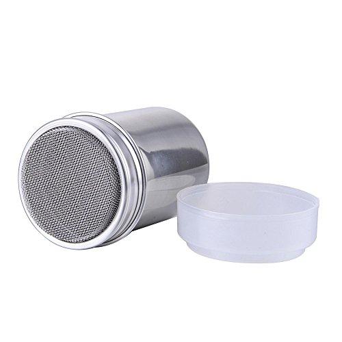 Shaker in acciaio inox per farina, zucchero, cioccolato, glassa, sale, cacao, caffè, 200 g, per cucina Confezione da 1 pezzo.