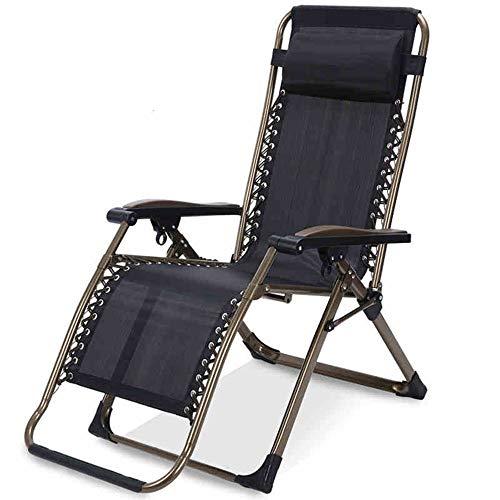 YLCJ Grote verstelbare ligstoel nul zwaartekracht tuin fauteuil met 350-pond opvouwbare hoofdsteun