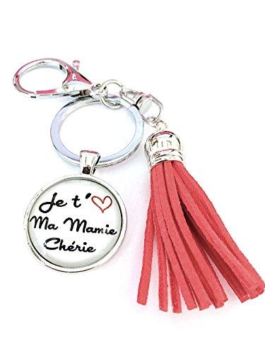 Le porte-clés je t'aime mamie chérie