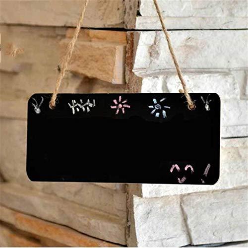 Tafel 5 PC Kreative Shop Klein Tafel Anhänger Holzhandwerkprodukte Nachricht Tafel Home Decoration Listing Schwarz für Shop Küche Zuhause (Color : Black, Size : 18x8cm)