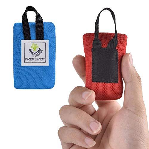 huihui Isomatte tragbare Ultra-dünne Folding Isomatte Tasche wasserdichte Decke im Freien Picknick-Matte Sand Strandmatte, Größe: 70 * 110cm (Color : Blue)