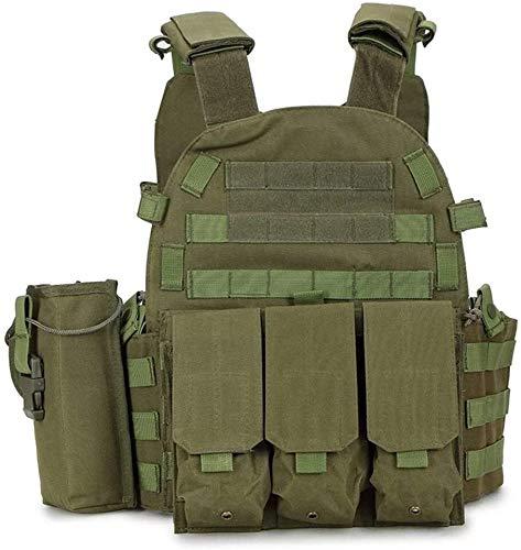Syxfckc 900D Militar Chaleco táctico de Molle Combate Asalto Soporte de Placas de Camuflaje Chaleco táctico Cuerpo Armadura Entrenamiento Equipo al Aire Libre Molle Seguridad hreh
