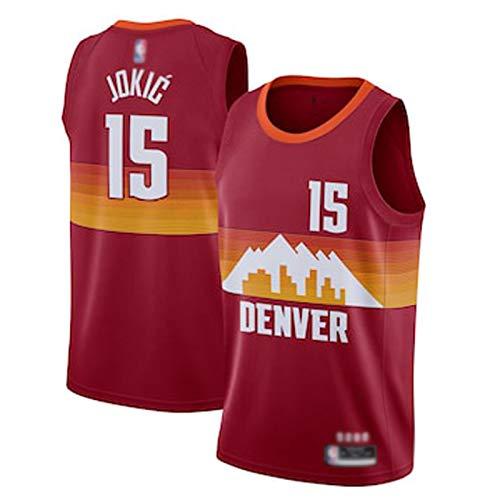 DWQ 20-21 Temporada Nuggets # 15 Jersey de Baloncesto Jóxico, Versión de la Ciudad Camiseta de Baloncesto, Jersey sin Mangas, Unisex (S-XXL) L