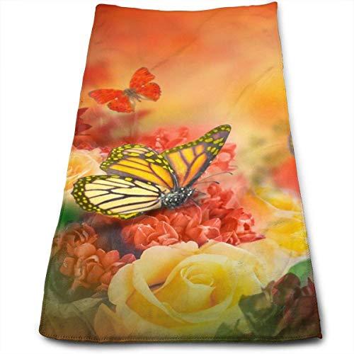 AOOEDM Toalla de Mano Con ramo de rosas, 100% microfibra, toalla de Playa absorbente Suave para baño, cocina, 12 x 27,5 pulgadas