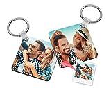 Getsingular Llaveros Personalizados Madera con Foto | Máxima Calidad de impresión a 2 Caras | Regalo Original para cumpleaños, San Valentín y Navidades | Cuadrado - 1 ud