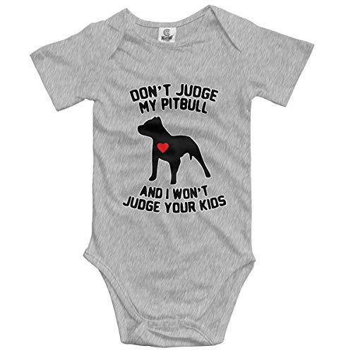 Lplpol Pitbull Dad - Mono de algodón para bebé unisex para niños y niñas, GK796, multicolor, 12 meses