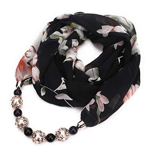 Pendiente De La Bufanda del Collar De Bohemia Collares De Joyería De Mujeres Pañuelos De Gasa Colgante Wrap Foulard Accesorios Mujer ()