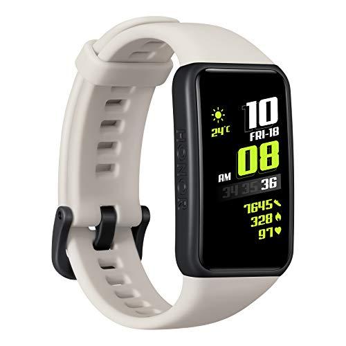 HONOR Band 6 SmartWatch 1.47'Pantalla AMOLED, Pulsera de Monitor de Ritmo cardíaco SPO2, Pedómetro, Rastreador de Actividad de natación a Prueba de Agua 5ATM para Android iOS, Gris