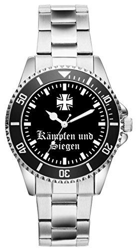 Soldat Geschenk Artikel Bundeswehr Kämpfen und Siegen Uhr 2164