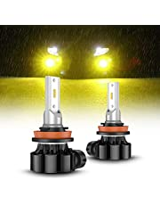 SEALIGHT フォグランプ LED H8 H11 H16 バルブ イエローフォグ黄色 車検対応 12V 1500LM CSPチップ搭載 3000K 50000時間以上寿命 (2個入り )