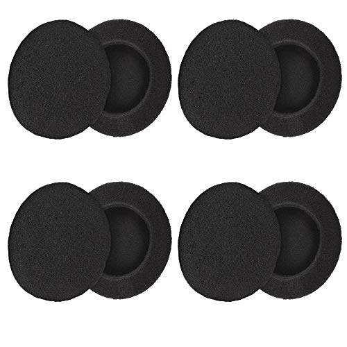 """4 Pairs (2.4"""") Replacement Foam Earpads Cushion Covers Compatible with H600/H330/H340/MDR-G45LP/MDR-G55LP/MDR-G410LP/MDR-G101LP/MDR-G42LP/MDR-G45/IF240R/SRF-HM33/MDR-027 Headphones (Black)"""