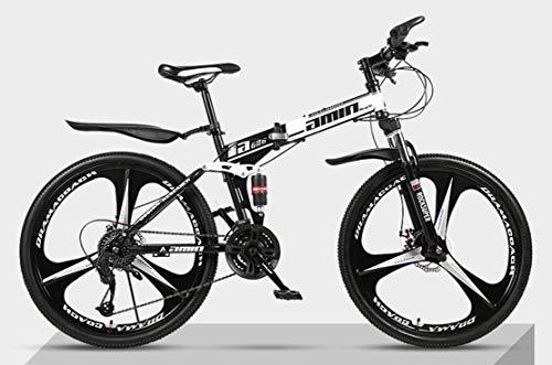 JFSKD Opvouwbare mountainbike fiets 26 inch dubbele schokabsorberende cross-country snelheid racen mannelijke en vrouwelijke studenten fiets