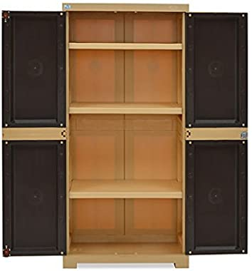 Nilkamal Freedom Mini Medium Plastic Cabinet Brown | Finish Color - Brown|(Nilkamal_Furniture_25)
