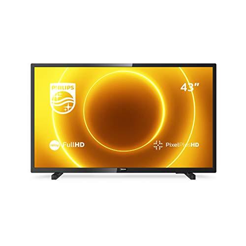 Philips 43PFS5505/12 43-Zoll-LED-Fernseher (Full HD, Pixel Plus HD, Full-Range-Lautsprecher, 2 x HDMI, USB) Schwarz Glänzend [Modelljahr 2020]