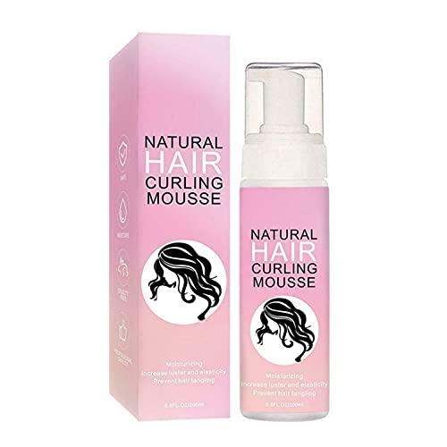 Mousse para cabello rizado en espray modelador, espumas y espumas para el cabello para mejorar los rizos, esculpir el cabello rizado con anti-frizz Mousses para rizos naturales