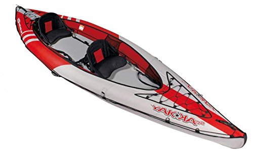 BIC Air Kajak Yakkair HP 2 Luftkajak Schlauchboot zweier Kajak Freizeitkajak, Farbe:Rot
