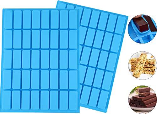 Lawei 2 Pack 40 Cavity rechthoek siliconen snoep mallen - Ice Cube lade mallen voor chocolade truffels, Ganache, gelei, snoep
