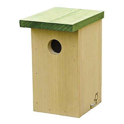 C J - Nichoir - Oiseaux (Taille unique) (Beige/Vert)
