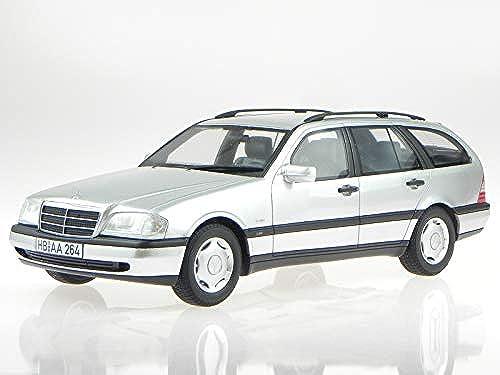 BOS Mercedes S202 C-Klasse T-Modell C220 T 1996 Silber Modellauto 1 18