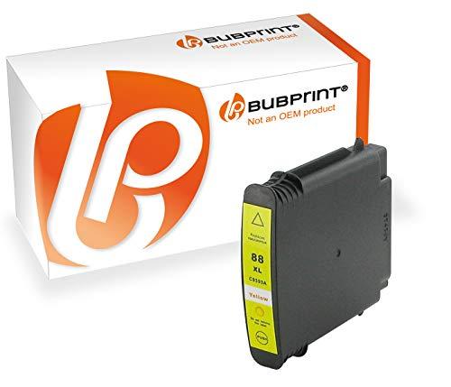 Bubprint Druckerpatrone kompatibel für HP 88XL 88 XL HP88 für OfficeJet Pro K5300 K5400 K550 K8600 L7480 L7500 Series L7580 L7590 L7680 L7780 Gelb