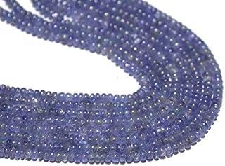 Jaipur Gems Mart Cuentas de tanzanita Natural Lisas Lisas, Cuentas de tanzanita Natural, Cuentas de Piedras Preciosas de t...