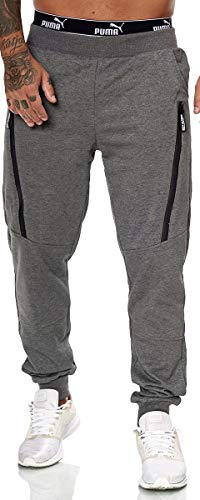XRebel Kinder Junge Jogging Hose Jogger Streetwear Sporthose Modell W27 (Dunkel Grau, Gr.10(128~134))
